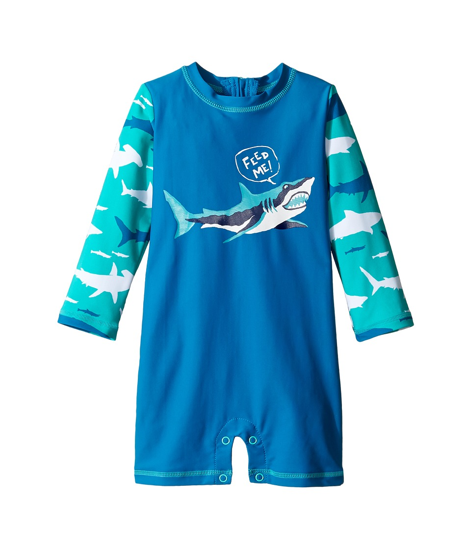 Hatley Kids - Toothy Shark Rashguard (Infant) (Blue) Boy's Swimwear