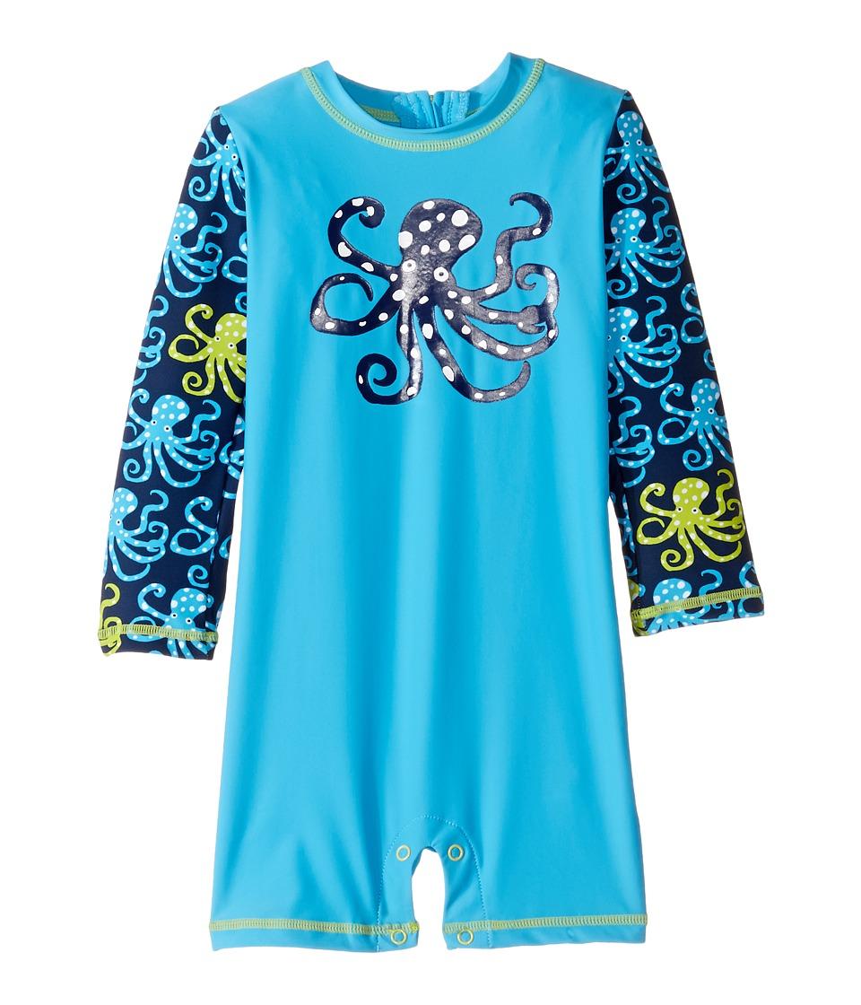 Hatley Kids - Deep Sea Octopus Rashguard (Infant) (Blue) Boy's Swimwear