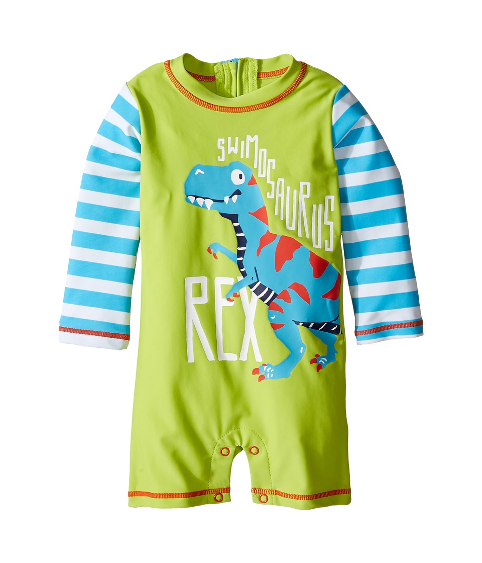 Hatley Kids - Roaring T-Rex Rashguard (Infant) (Green) Boy's Swimwear