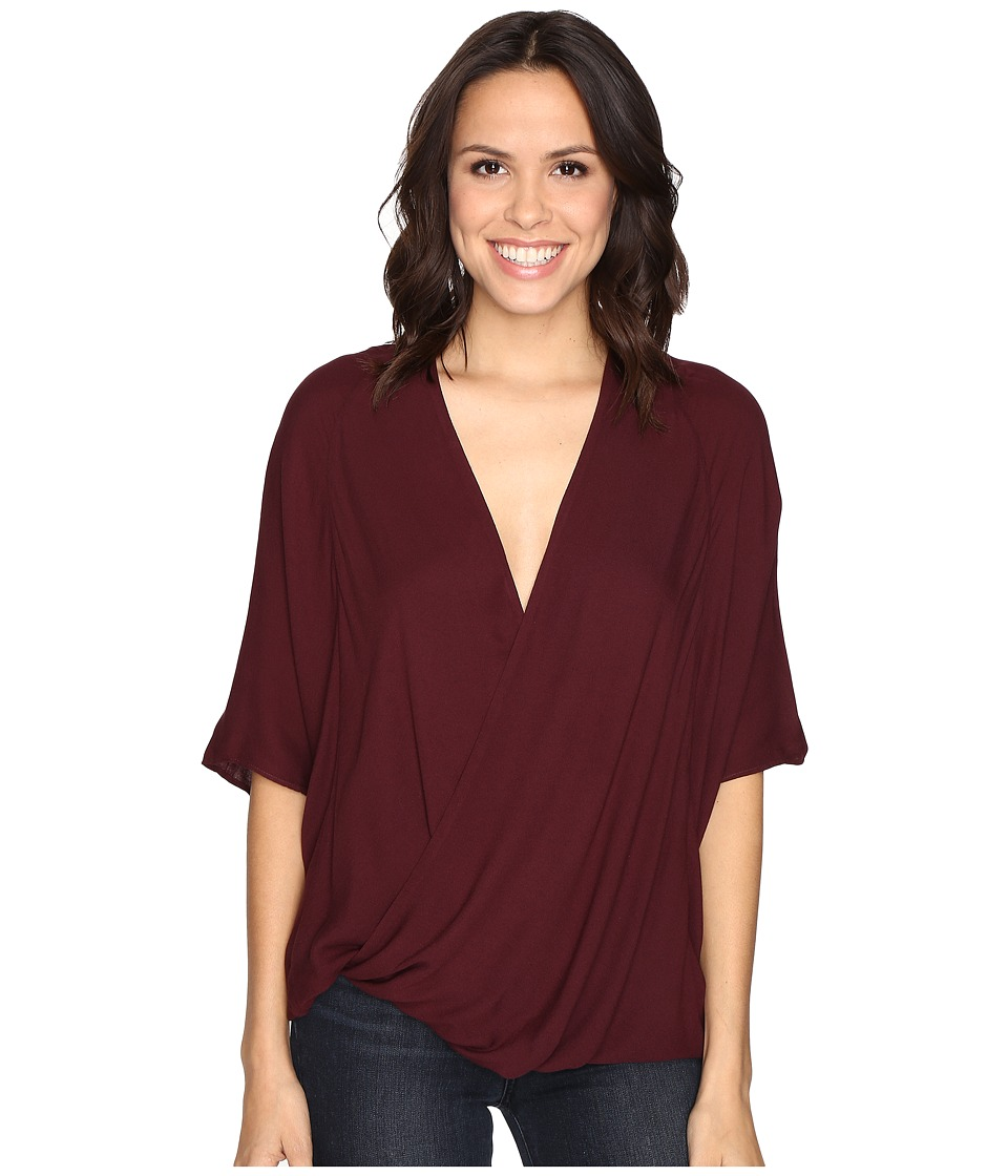 Young Fabulous & Broke - H Top (Burgundy) Women's Blouse