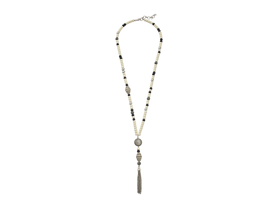 Lucky Brand - Bone Tassel Necklace (Silver) Necklace