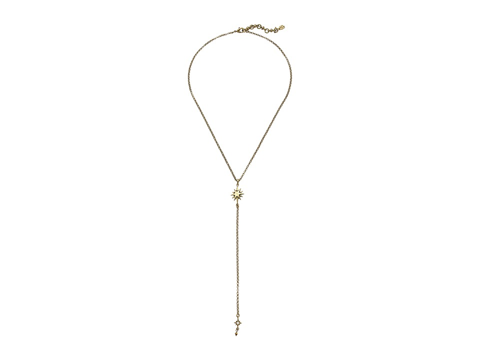 Lucky Brand - Star Lariat Necklace (Gold) Necklace