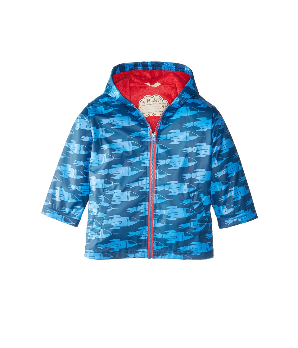 Hatley Kids - Rocket Ships Splash Jacket (Toddler/Little Kids/Big Kids) (Blue) Boy's Coat