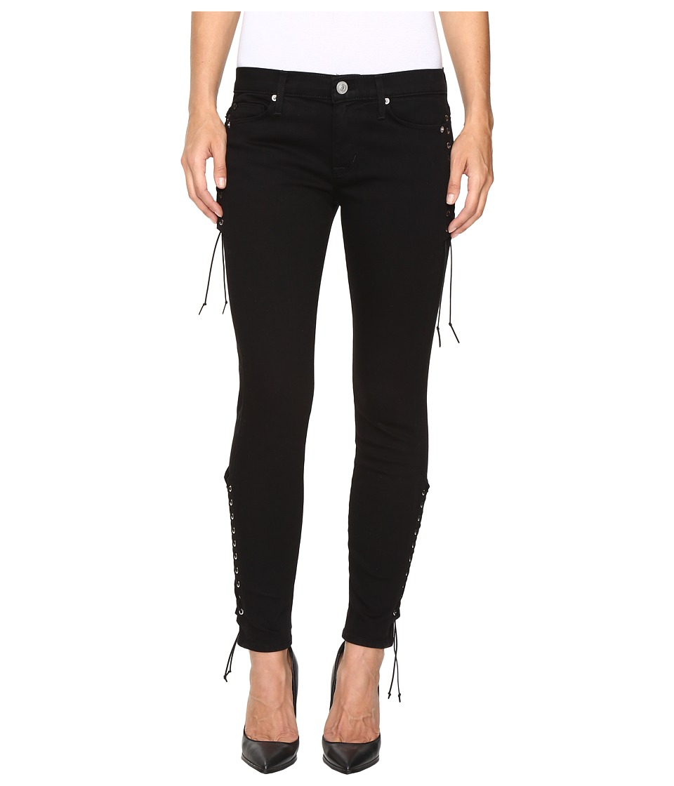 Hudson Suki Mid-Rise Ankle Super Skinny in Black (Black) Women
