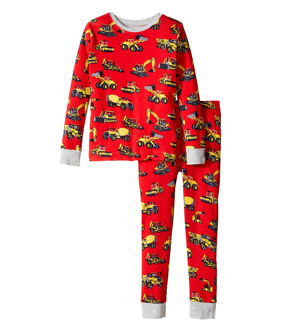 Hatley Kids - Heavy Duty Machines Pajama Set (Toddler/Little Kids/Big Kids) (Red) Boy's Pajama Sets