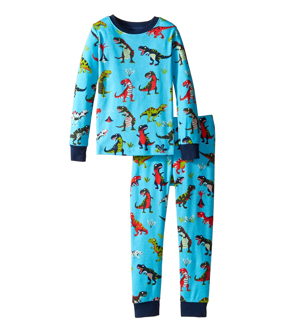 Hatley Kids - Roaring T-Rex Pajama Set (Toddler/Little Kids/Big Kids) (Blue) Boy's Pajama Sets
