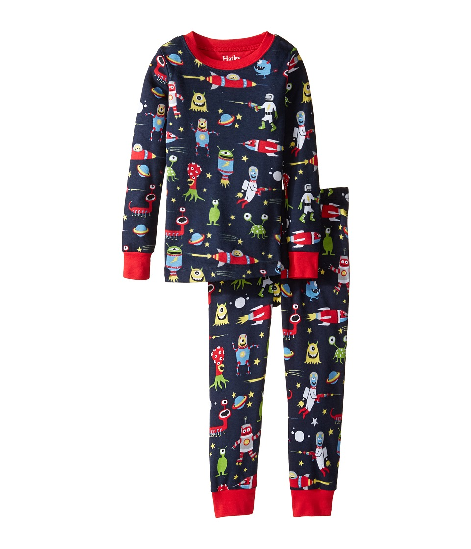 Hatley Kids - Space Aliens Pajama Set (Toddler/Little Kids/Big Kids) (Blue) Boy's Pajama Sets