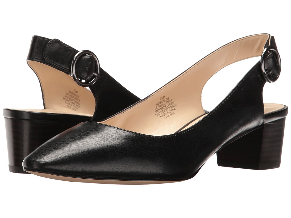 Nine West Brigitte (Black Leather) Women