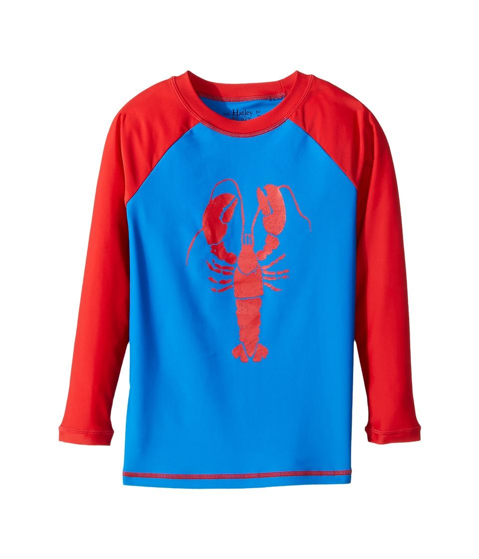 Hatley Kids - Lobster Rashguard (Toddler/Little Kids/Big Kids) (Blue) Boy's Swimwear