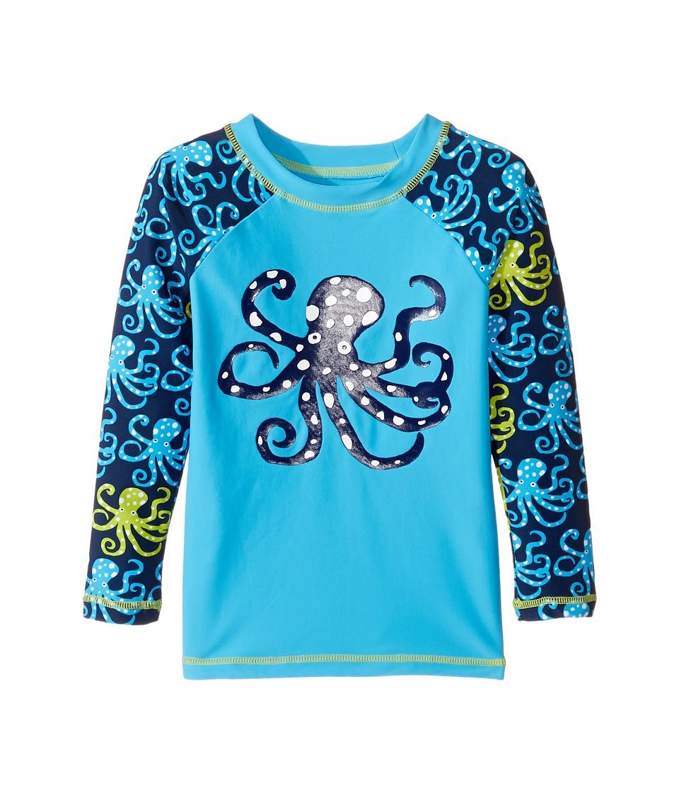 Hatley Kids - Deep Sea Octopus Rashguard (Toddler/Little Kids/Big Kids) (Blue) Boy's Swimwear