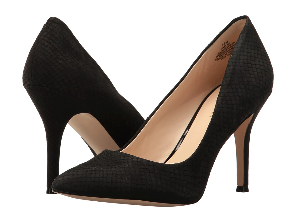 Nine West - Flax (Black Nubuck) High Heels
