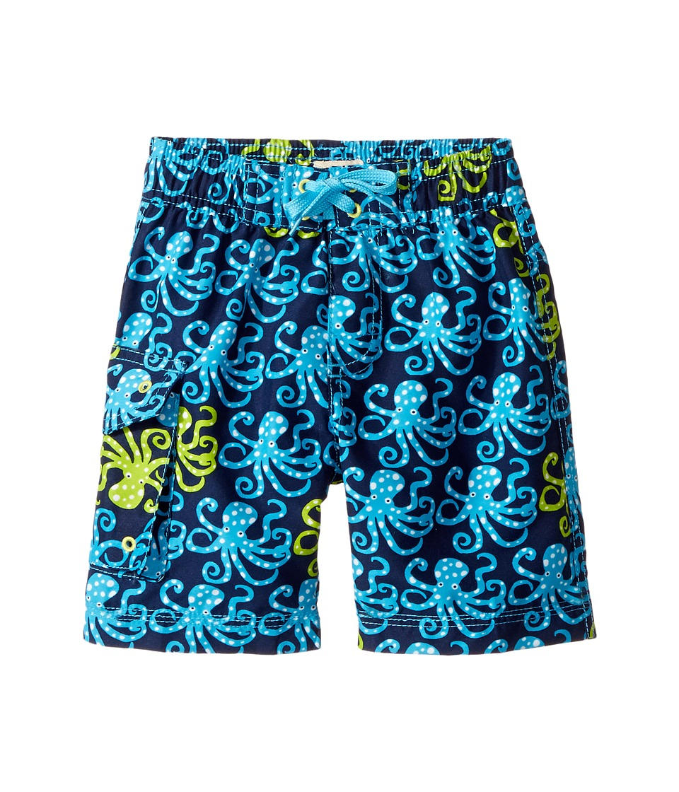 Hatley Kids Deep Sea Octopus Boardshorts (Toddler/Little Kids/Big Kids) (Blue) Boy