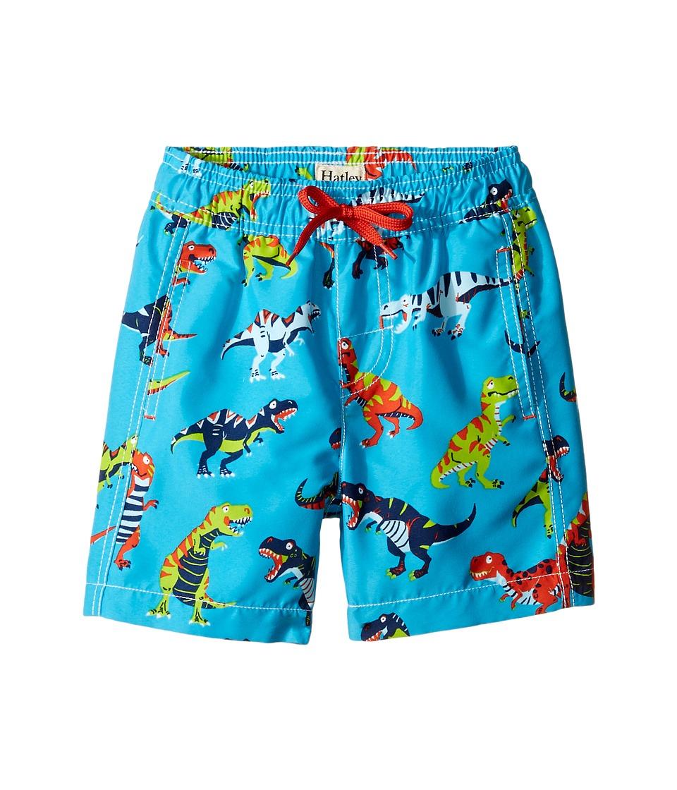 Hatley Kids - Roaring T-Rex Swim Trunks (Toddler/Little Kids/Big Kids) (Blue) Boy's Swimwear