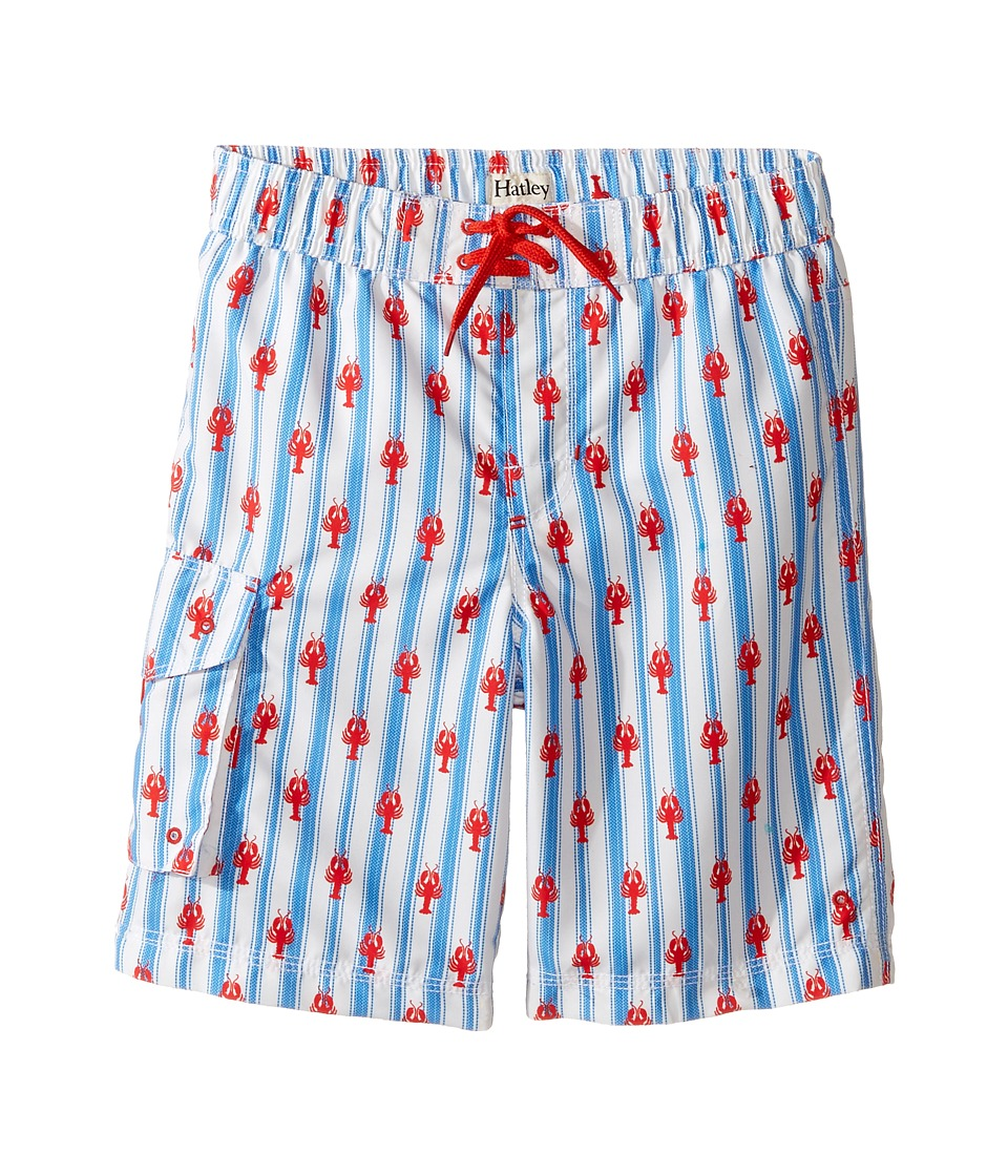 Hatley Kids Lobsters Boardshorts (Toddler/Little Kids/Big Kids) (White) Boy