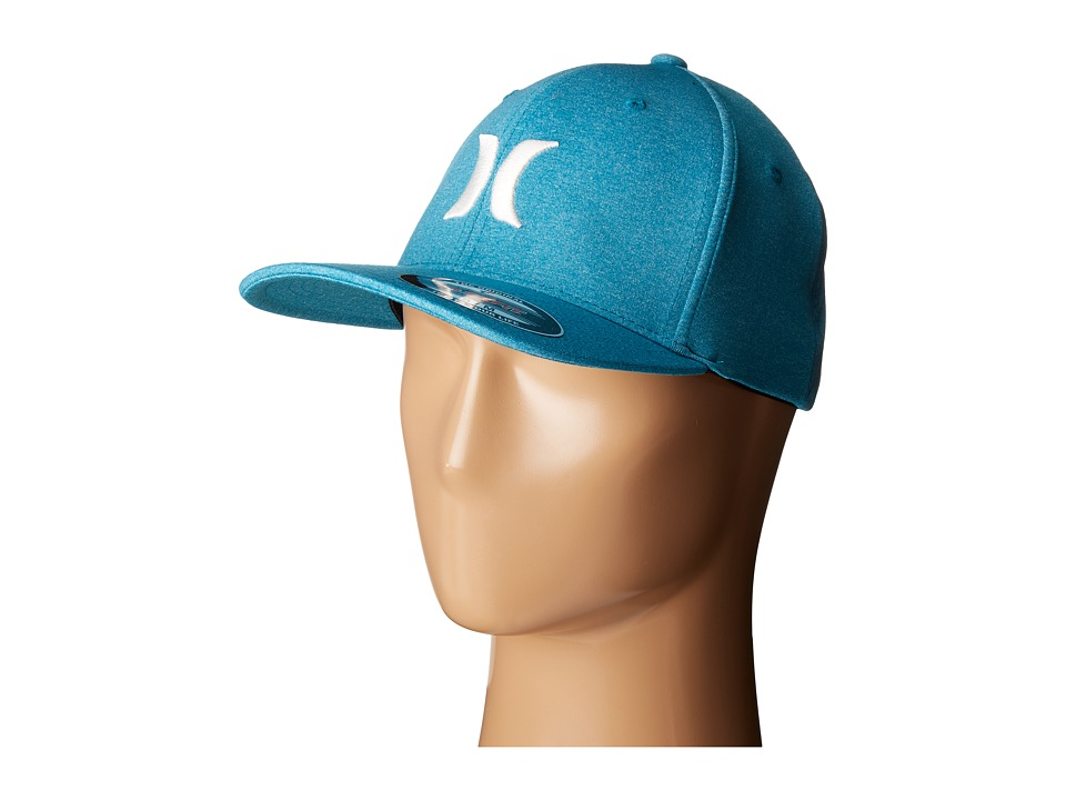 Hurley - One and Textures Fitted Hat (Chlorine Blue) Caps