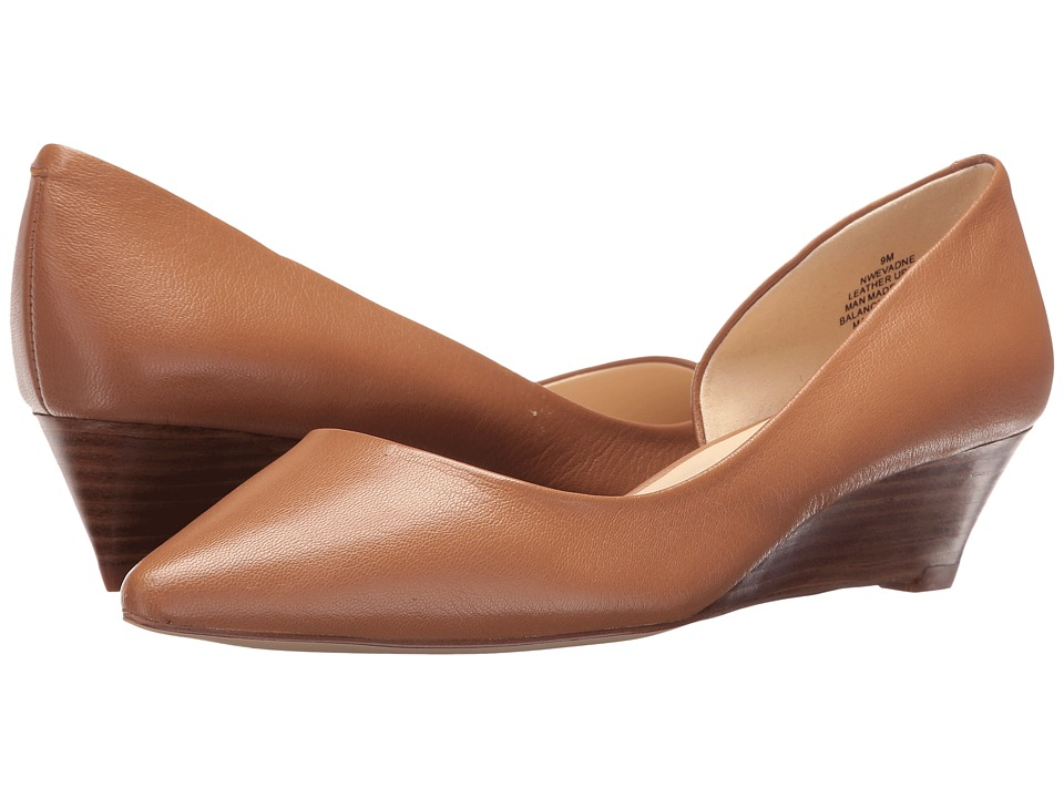 Nine West - Evadne (Dark Natural Leather) Women's Wedge Shoes