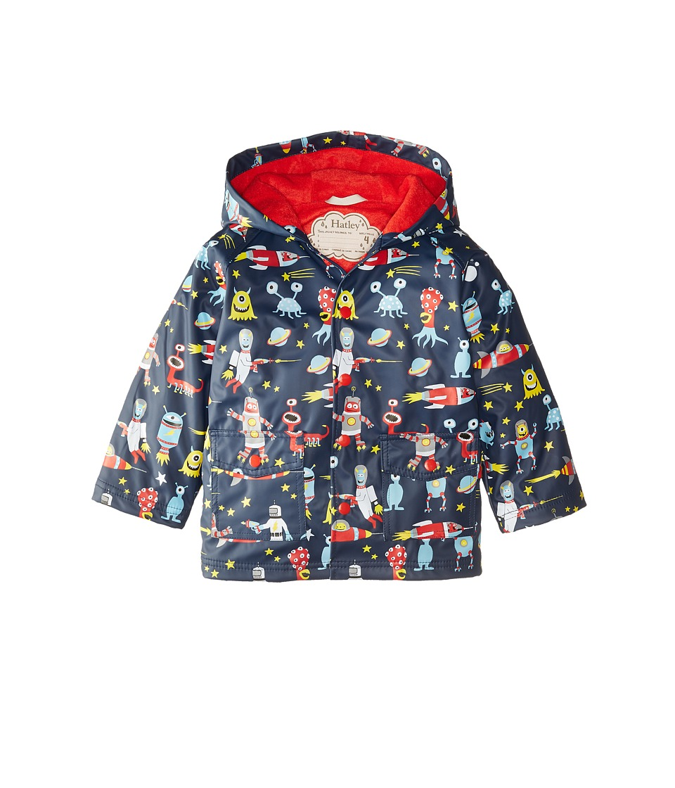 Hatley Kids - Space Aliens Raincoat (Toddler/Little Kids/Big Kids) (Blue) Boy's Coat