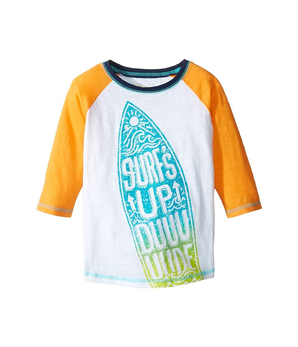 Hatley Kids - Surfs Up 3/4 Length Sleeve Raglan Tee (Toddler/Little Kids/Big Kids) (White) Boy's T Shirt