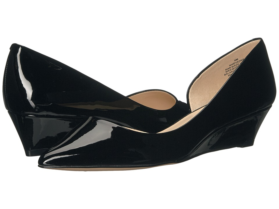 Nine West - Evadne (Black Patent) Women's Wedge Shoes