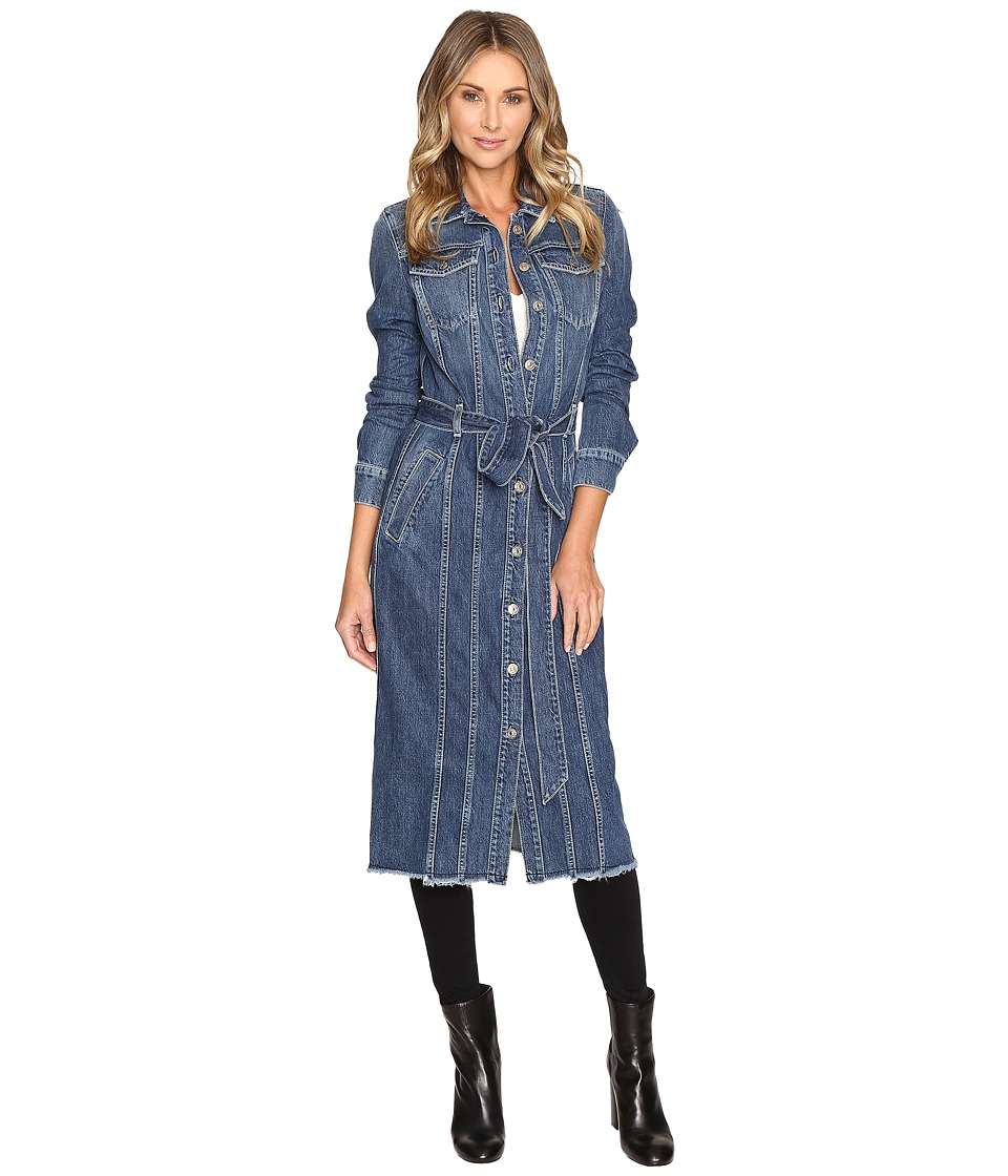 7 For All Mankind - Long Trucker Jacket (Waterloo) Women's Coat