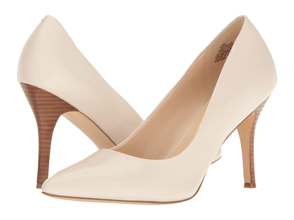 Nine West Flax Off-White Leather High Heels