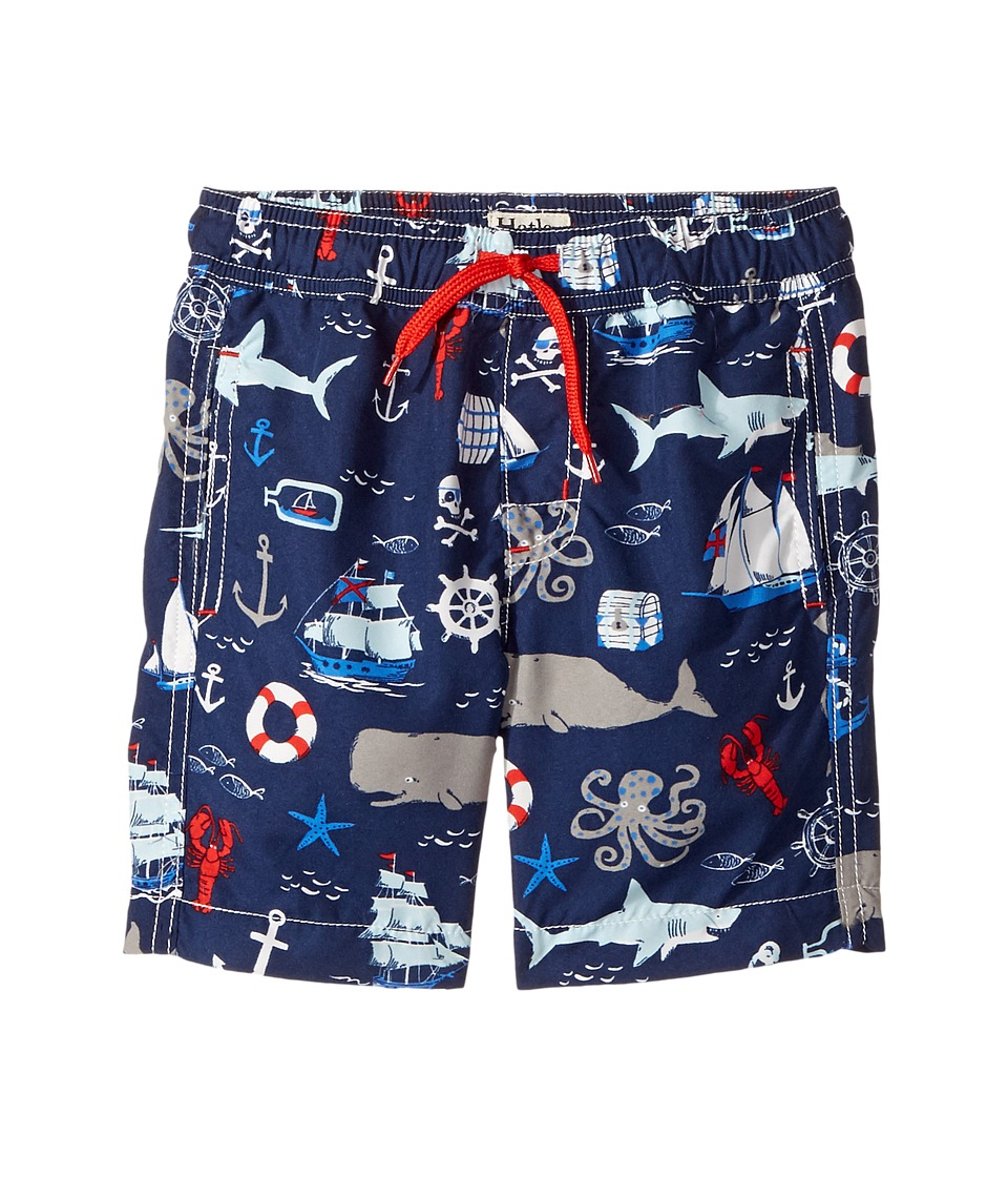 Hatley Kids - Vintage Nautical Swim Trunks (Toddler/Little Kids/Big Kids) (Blue) Boy's Swimwear