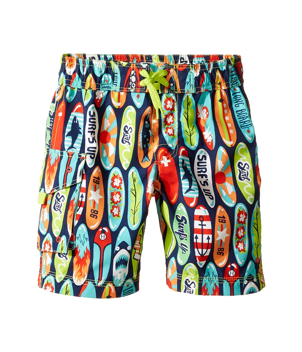 Hatley Kids Surfboards Boardshorts (Toddler/Little Kids/Big Kids) (Blue) Boy