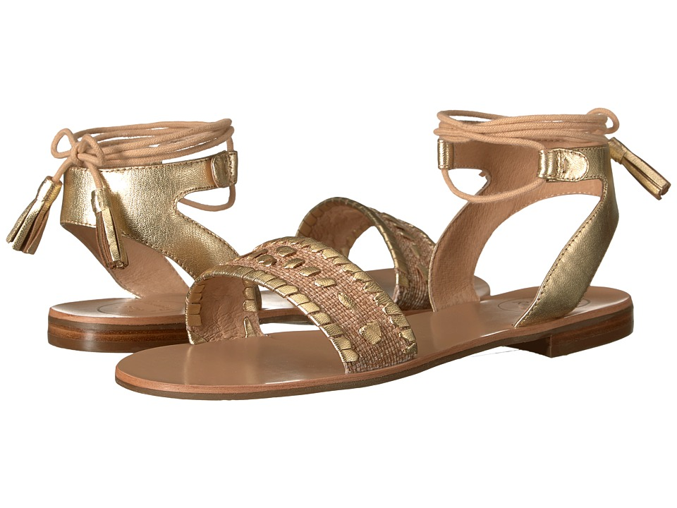Jack Rogers - Tate Raffia (Natural/Gold) Women's Sandals