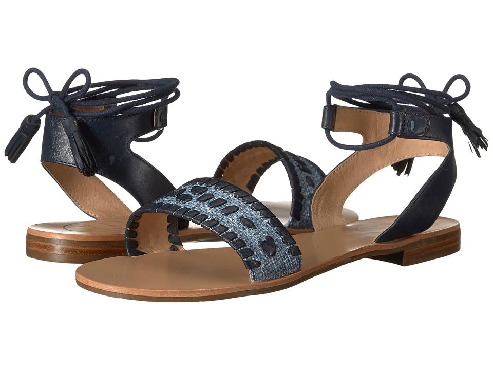 Jack Rogers - Tate Raffia (Blue/Midnight) Women's Sandals