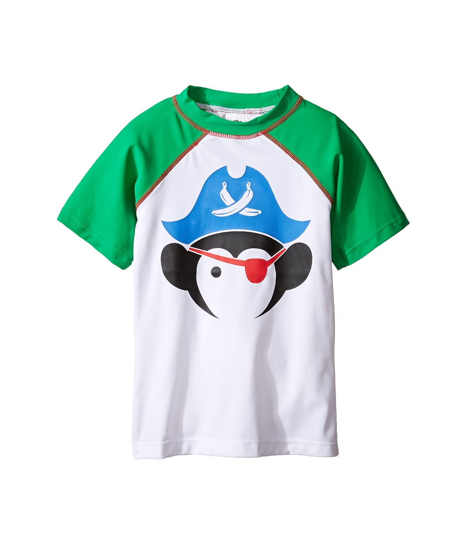 Appaman Kids - Short Sleeve Pirate Rashguard w/ SPF 50 Cover-Up (Toddler/Little Kids/Big Kids) (Bright Green) Boy's Swimwear