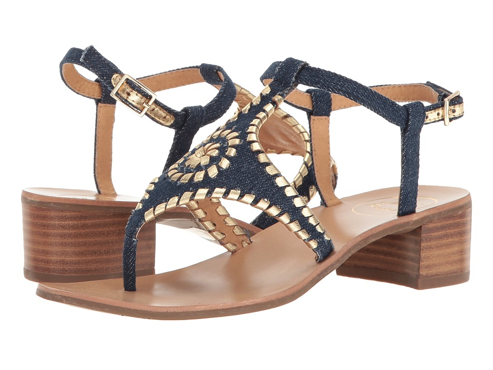 Jack Rogers - Elise (Denim/Gold) Women's Sandals