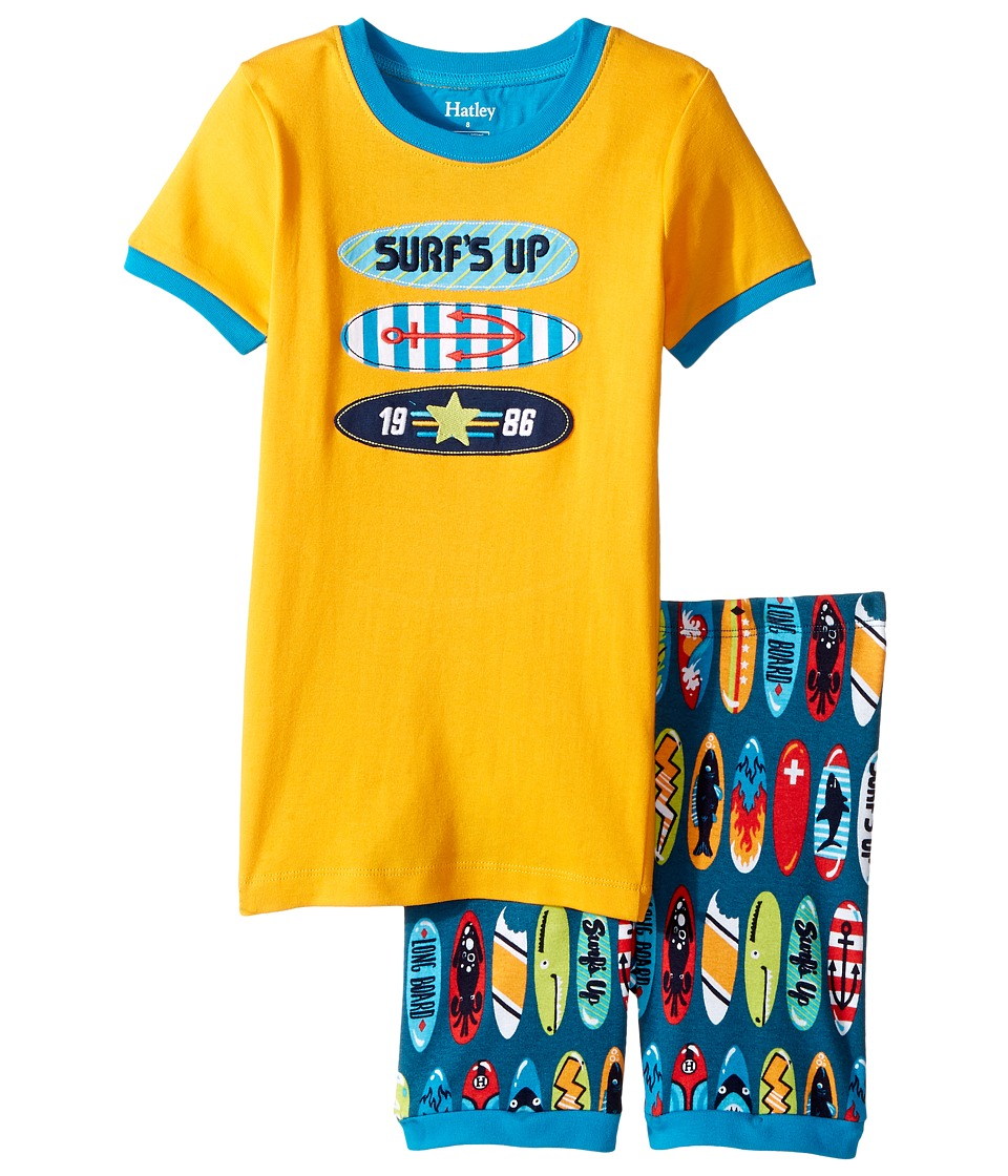 Hatley Kids - Surfboards Short Pajama Set (Toddler/Little Kids/Big Kids) (Orange) Boy's Pajama Sets
