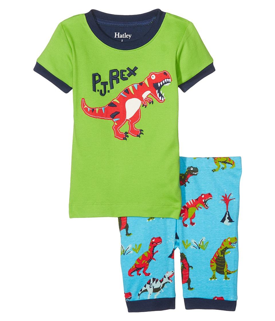 Hatley Kids - Roaring T-Rex Short Pajama Set (Toddler/Little Kids/Big Kids) (Green) Boy's Pajama Sets