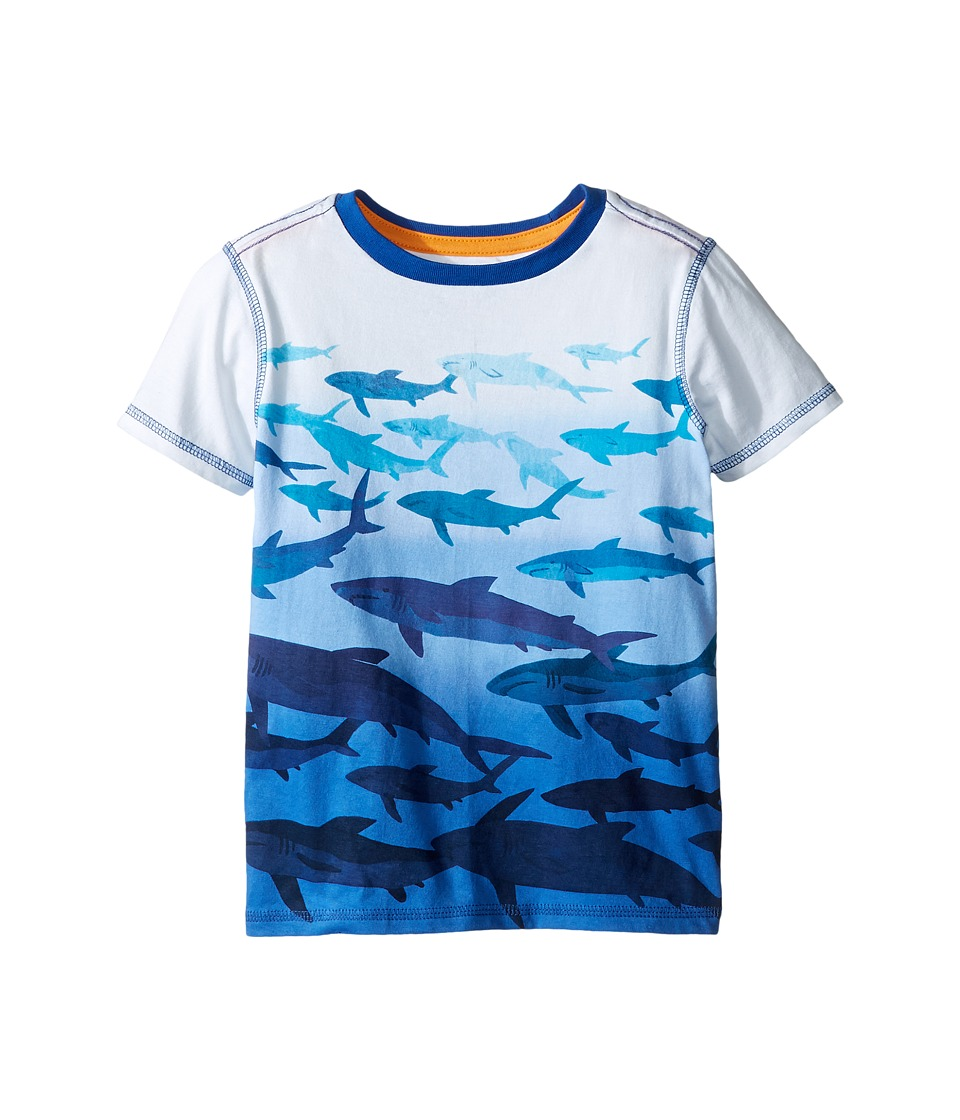 Hatley Kids - Shark Dip-Dye Graphic Tee (Toddler/Little Kids/Big Kids) (White) Boy's T Shirt