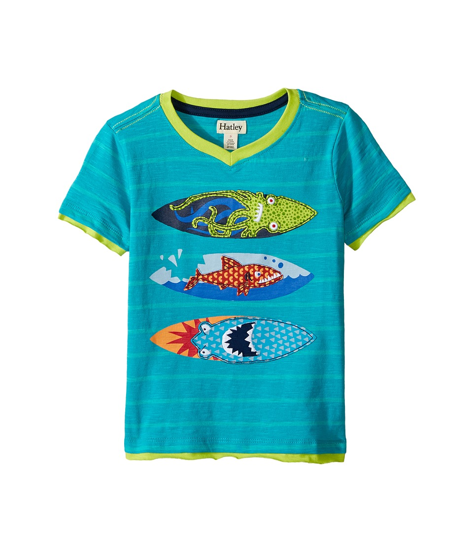 Hatley Kids - Eat Sleep Surf Graphic Tee (Toddler/Little Kids/Big Kids) (Aqua) Boy's T Shirt