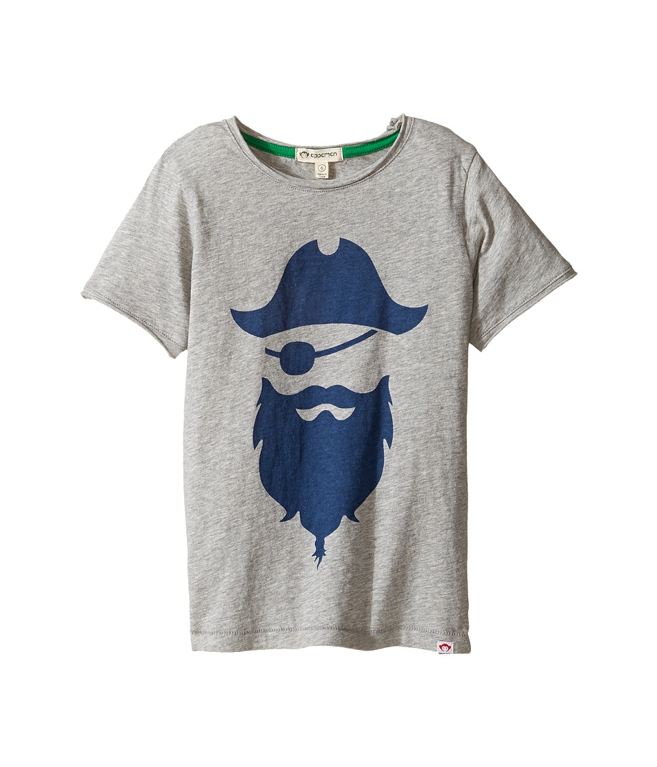 Appaman Kids - Super Soft Blackbeard Graphic Tee (Toddler/Little Kids/Big Kids) (Heather Mist) Boy's T Shirt