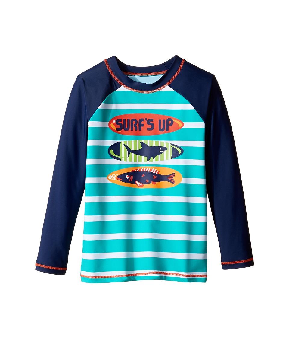 Hatley Kids Surfboards Rashguard (Toddler/Little Kids/Big Kids) (Aqua) Boy