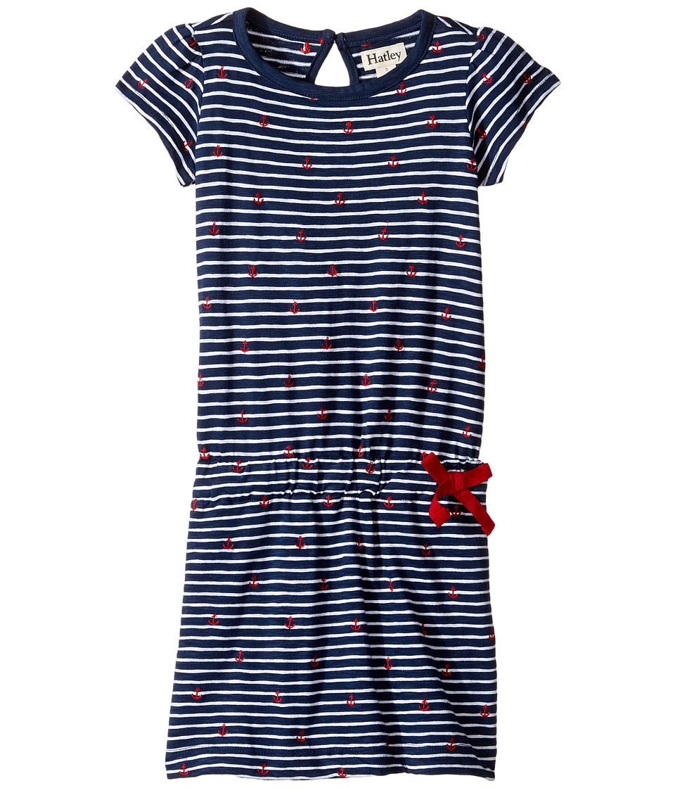 Hatley Kids - Embroidered Anchors Drop Waist Dress (Toddler/Little Kids/Big Kids) (Blue) Girl's Dress