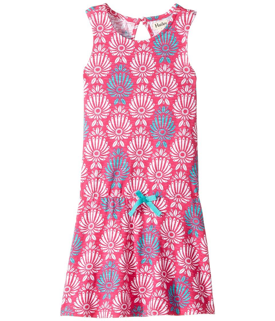 Hatley Kids - Porcelain Print Flounce Skirt Tank Dress (Toddler/Little Kids/Big Kids) (Pink) Girl's Dress