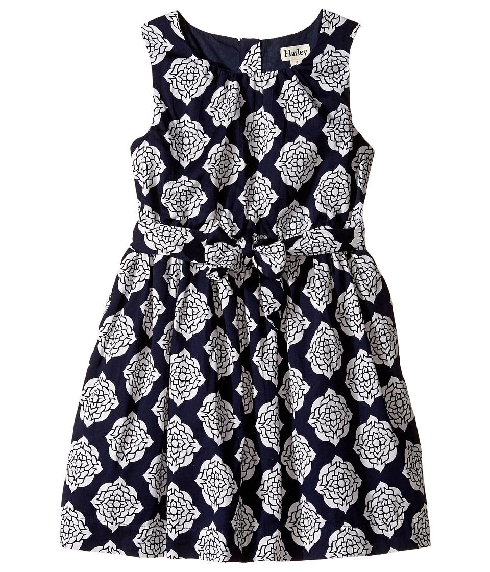 Hatley Kids - Henna Floral Lined Party Dress (Toddler/Little Kids/Big Kids) (Blue) Girl's Dress