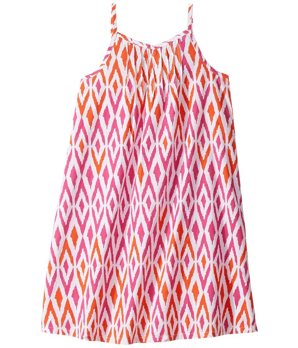 Hatley Kids - Sun-Bleached Ikat A-Line Dress (Toddler/Little Kids/Big Kids) (White) Girl's Dress