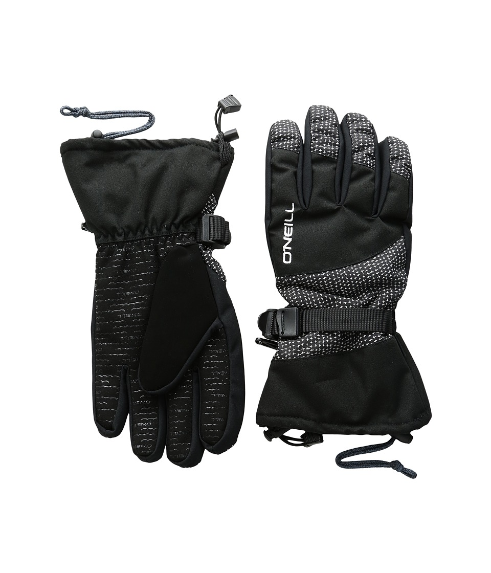 O'Neill - Freedom Gloves (Black All Over Print/White) Extreme Cold Weather Gloves
