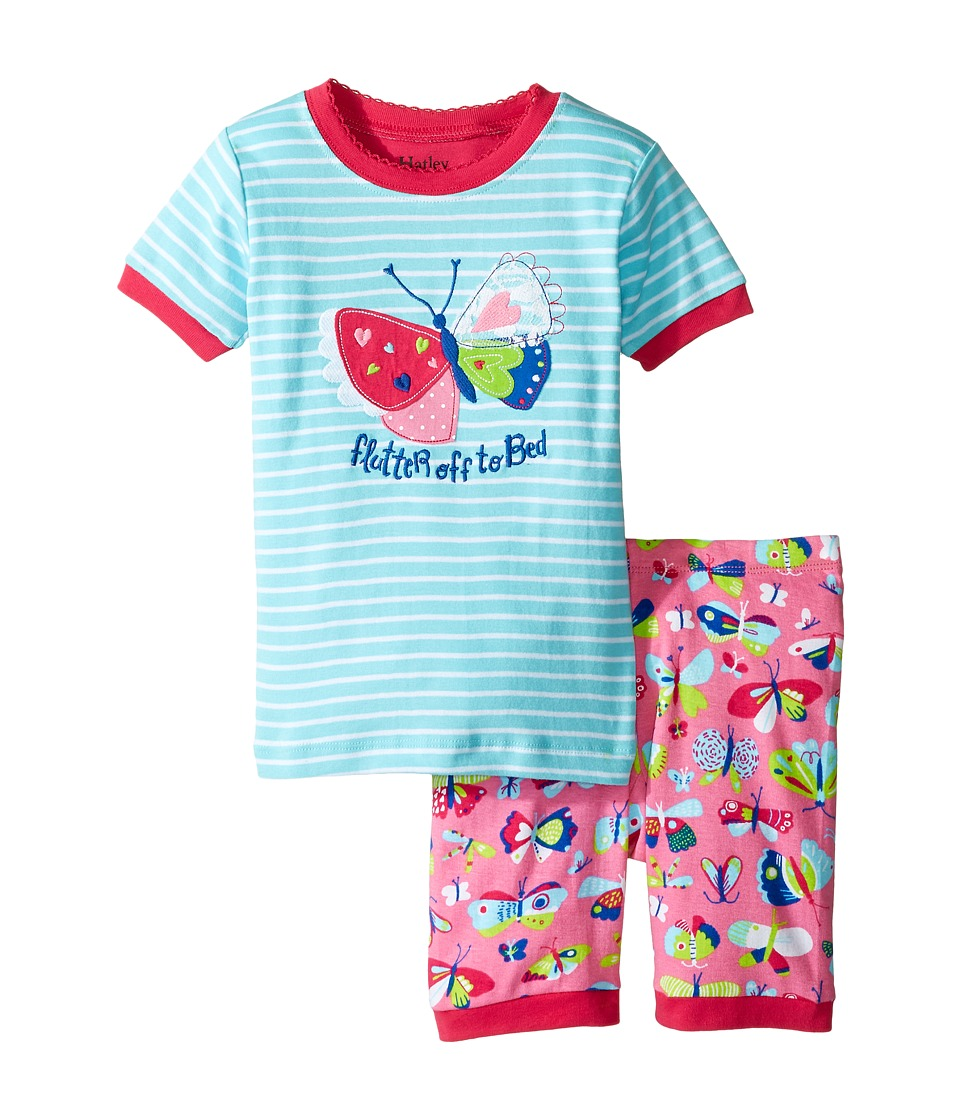Hatley Kids - Pretty Butterfly Short Pajama Set (Toddler/Little Kids/Big Kids) (Blue) Girl's Pajama Sets