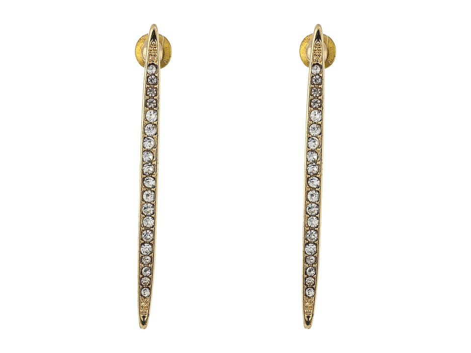 Steve Madden - Casted Stones Bar Post Earrings (Gold) Earring