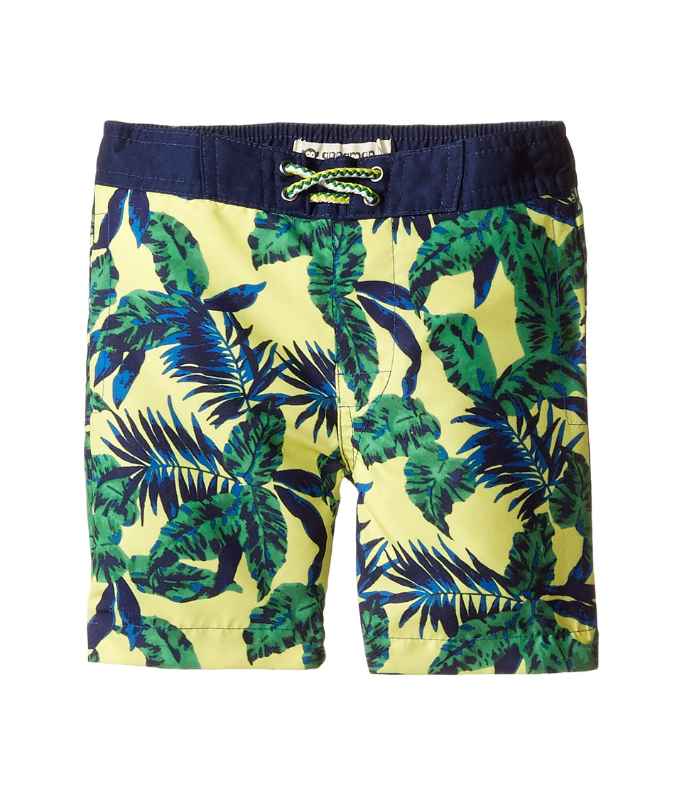 Appaman Kids - Tropical Palms Swim Trunks (Toddler/Little Kids/Big Kids) (Yellow) Boy's Swimwear