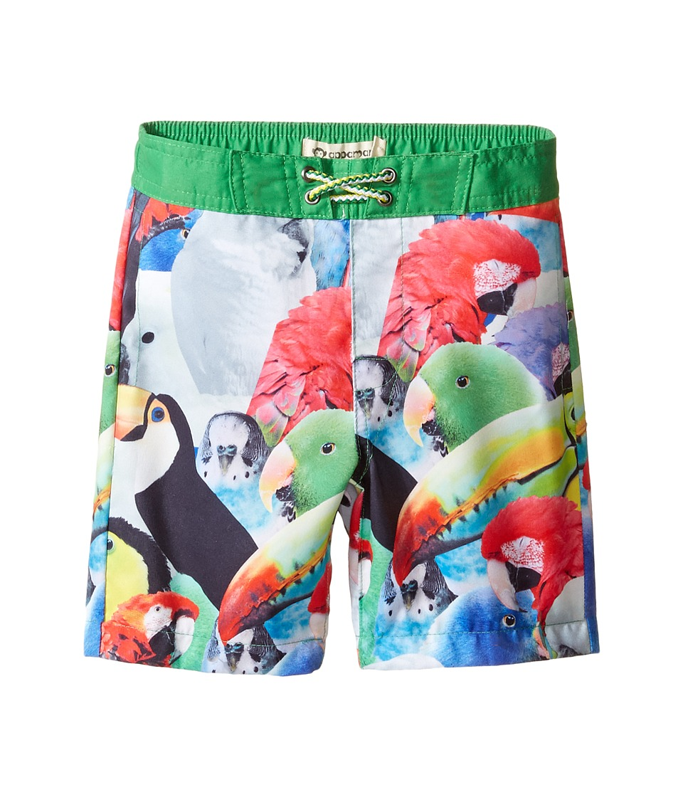 Appaman Kids - Parrot Pattern Swim Trunks (Toddler/Little Kids/Big Kids) (Green Multi) Boy's Swimwear