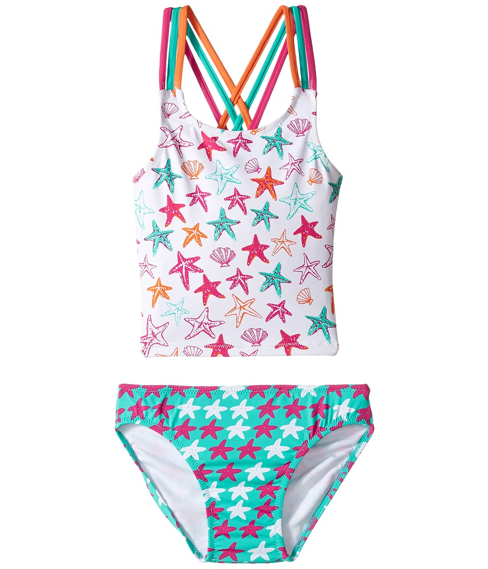 Hatley Kids - Star Fish Tankini Set (Toddler/Little Kids/Big Kids) (White) Girl's Swimwear Sets