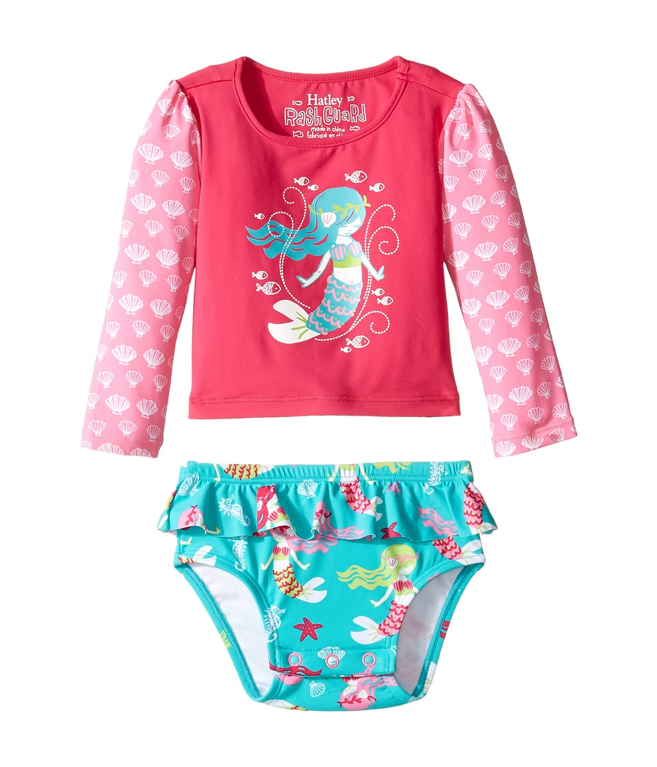 Hatley Kids Sweet Mermaid Rashguard Set (Infant) (Pink) Girl