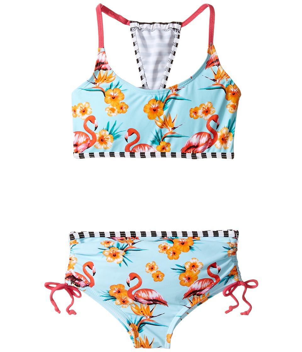 Appaman Kids - Bora Bora Bikini Set (Toddler/Little Kids/Big Kids) (Flamingo) Girl's Swimwear Sets