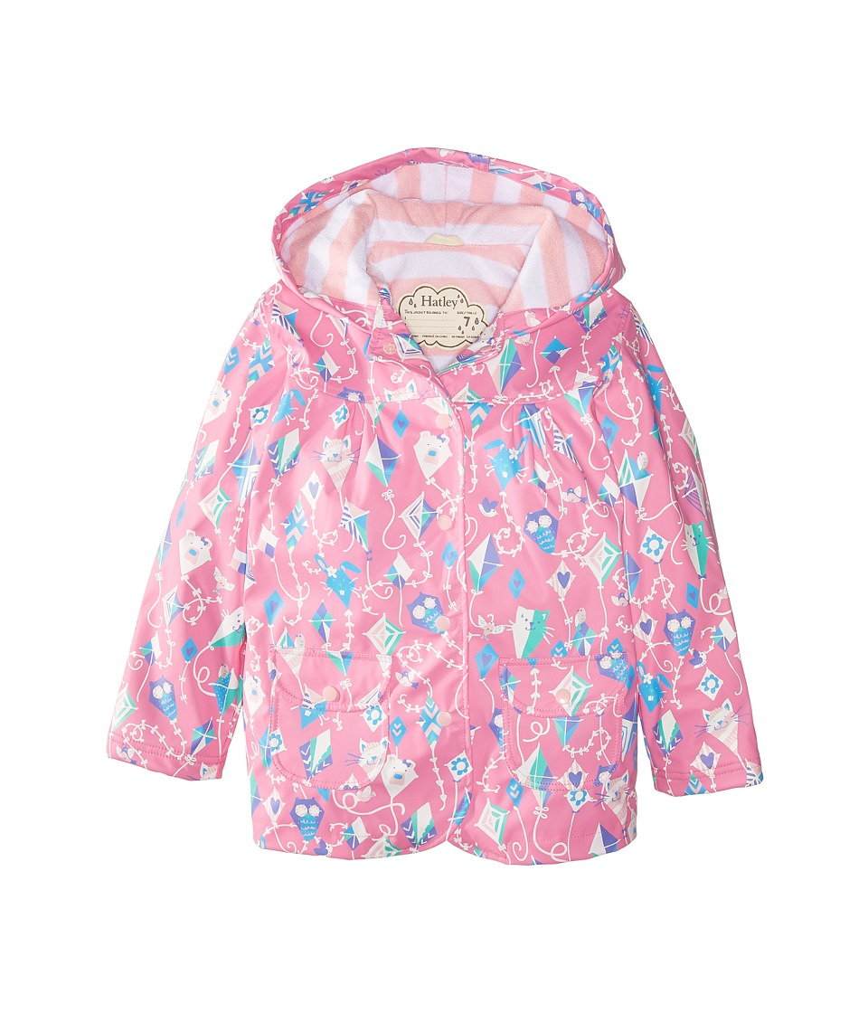 Hatley Kids - Colorful Kites Raincoat (Toddler/Little Kids/Big Kids) (Pink) Girl's Coat